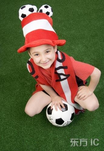 可爱的足球宝贝