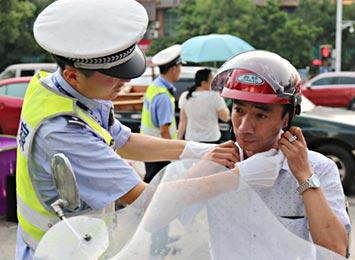 5月20日将严查驾电动车不佩戴安全头盔